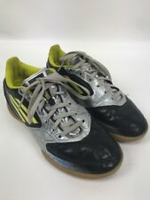 Adidas F-50 Youth Indoor Soccer Shoes Black Silver Yellow Size 3.5