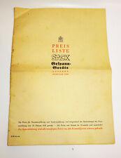 Catalogue Liste des Prix Rud. Sac Leipzig Gespann - Appareils 1939 (H7