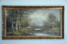 Vintage Beautiful Large Oil Painting On Canvas