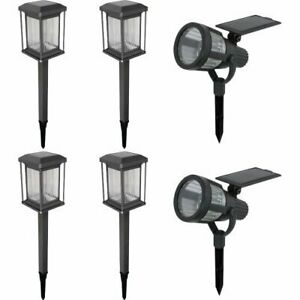 Malibu 6 Pack Solar LED Light Kit. Powered by Sunlight and Automatically Ligh...