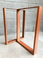 "2x Table / Bench legs Designer Metal Steel Industrial ""Sherwood Leg"" MADE IN UK"