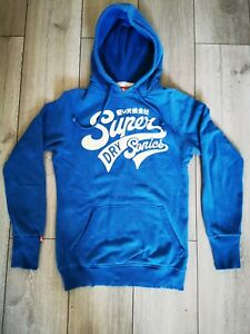 Superdry size S hoodie BLUE pullover