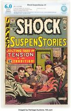 Shock SuspenStories #1 Feb-Mar 1952, GOLDEN CRIME CLASSIC CBCS 6.0 Electrocution