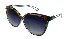 Gafas De Sol Verde Marrón Azul Petróleo CAT EYE Ella Jonte UV 400 Polarizadas