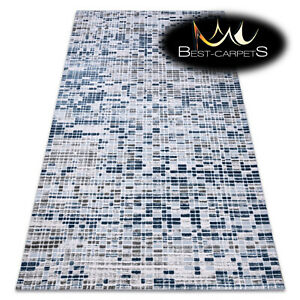 """SOFT AMAZING ACRYLIC RUGS """"DIZAYN"""" 124 Thick exclusive blue grey HIGH QUALITY"""