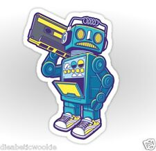 Robot beatbox kicks shoes rap music beats Sticker decal car laptop scrapbook