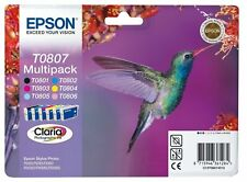 Genuine Epson T0807 Multipack Ink Cartridges (Hummingbird) | FREE 🚚 DELIVERY