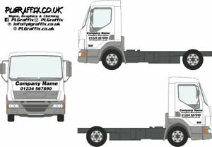 Truck Lorry Cab Sign Writing decal kit vehicle advertisement business