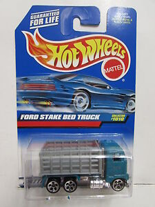 Hot Wheels 1999 Ford Estacas Cama Camión #1010