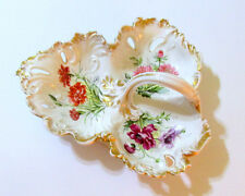 Limoges  HAVILAND Lge 3 Section, Handled, Hand Painted Serving Tray, Eugenie