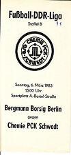 DDR-Liga 82/83 BSG Chemie PCK Schwedt - BSG Bergmann Borsig Berlin, 06.03.1983