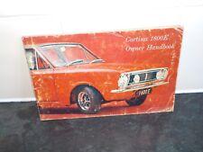 rare ford cortina 1600E mk 1 1967 owners handbook
