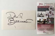 David Brenner Signed Autographed 3x5 Card JSA Certified