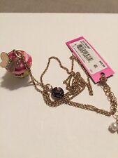 $65 Betsey Johnson Metallic Xox Trolls Cupcake Pendant T10