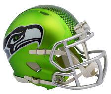 "SEATTLE SEAHAWKS ""BLAZE"" NFL Riddell SPEED Full Size Replica Football Helmet"