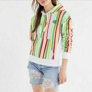 Champion Exclusive Susan Alexandra Medium Colorful Striped Hoodie