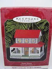 1999, FARM HOUSE, #1, TOWN & COUNTRY,  HALLMARK KEEPSAKE ORNAMENT