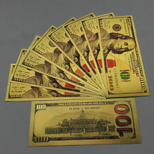 100pcs US$100 Dollar Gold Foil Golden  UNC 1:1 Paper Money Banknotes Crafts WH