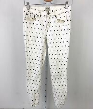 J.CREW Toothpick Skinny Jeans Crop Ankle Mini Star Print Off White Navy G2312 27