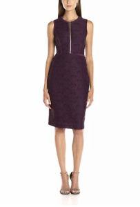 Calvin Klein Plus Sleeveless Zipper Lace Sheath Dress - 16 - Aubergine