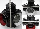 Lantern Vintage Railway Lamp Railroad 4 Way Light Kerosene Train Antique Signal