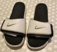 Nike Comfort Slide Sandals Black/White Memory Foam Size 9M