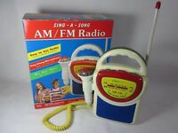 Street Beat 1994 Sing-A-Song AM FM Radio with Microphone PR-33 - Working