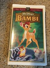 Walt Disney's Bambi Vhs 55th Anniversary Limited Edition Masterpiece Collection