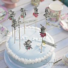 Truly Alice in Wonderland FOOD PICKS/CAKE STICKS -Tea Party- FULL RANGE IN SHOP!