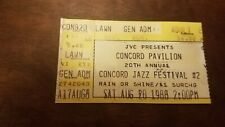 ticket stub - Concord Jazz Festival #2 Saturday August 20, 1988