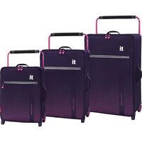 it luggage World's Lightest Vitalize 3 Piece Softside Luggage Set NEW