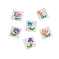 Mermaid Glitter Kids Tattoos Temporary Tattoo Pk 36 Under the Sea Party Favours