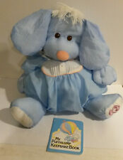 Fisher Price 8003 Puffalump Puppy w unused Keepsake book 1980s blue doll