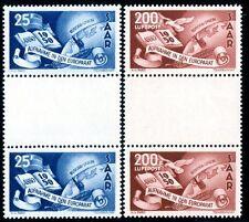 Saar 1950 297-298 ZS ** Post fresco tra STEG perfette 750 € + + (z1441
