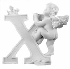 8cm Letters-A to Z-Angels Cherubs with Glitter-Capitals-ONE LOW POSTAGE CHARGE
