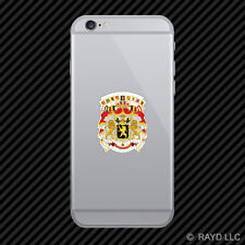 Belgian Coat of Arms Cell Phone Sticker Mobile Belgium flag BEL BE