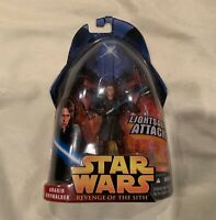 Star Wars Revenge of The Sith Anakin Skywalker Figure Lightsaber Attack