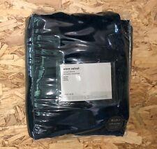 West Elm Worn Velvet Curtains 48x84 New! Royal Blue Blackout Lined