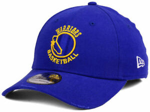 GOLDEN STATE WARRIORS NBA New Era 39THIRTY HWC Throwback Stretch Fit Hat Cap NWT