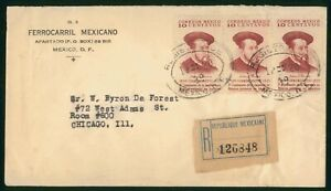 MayfairStamps Cover Mexico Registered to Chicago Illinois wwp68595