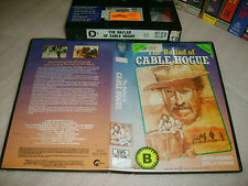 VHS *THE BALLAD OF CABLE HOGUE*1970 RARE WARNER 1st ISSUE Peckinpah Cult Western