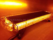 "860MM 34"" 64W 64 LED WORK LIGHT BAR BEACON RECOVERY FLASHING STROBE LIGHT YELLOW"