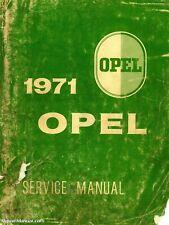1971 Opel 1900 & Gt Car Service Manual