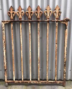 SCARCE VINTAGE ANTIQUE 1890s VICTORIAN CAST IRON FLEUR DI LIS HOUSE GATE MELB