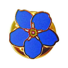 Lot Of 5 New Forget me Knot Badges Flower Small Discreet Masonic Craft Badge