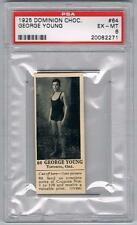 1925 Dominion Choc. Sports Card #64 George Young (Swimming) Graded PSA 6