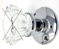 Retrofit Kit to INSTALL YOUR ANTIQUE KNOBS in Any Door-Polished Chrome