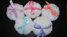 "Baby Doll Powder Puff 5"" White You Choose Ribbon Color"
