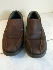 Clarks Collection Cotrell Step Slip On Loafer Brown Leather Shoes Mens Size 10 M