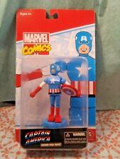Captain America Classic Wooden Push Puppet Marvel Comics Entertainment Earth New